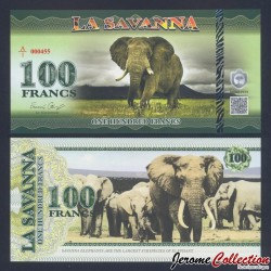 LA SAVANNA - Billet de 100 Francs - 2015