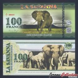 LA SAVANNA - Billet de 100 Francs - 2015