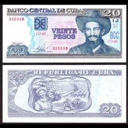 CUBA - Billet de 20 Pesos - Camilo Cienfuegos - 2014