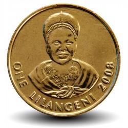 SWAZILAND - PIECE de 1 Lilangeni - Mswati III - Reine mère Ntmobi Tfwala - 2008 Km#45