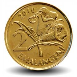 SWAZILAND - PIECE de 2 Emalangeni - Mswati III - Fleurs de lys - 2010 Km#46