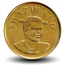 SWAZILAND - PIECE de 2 Emalangeni - Mswati III - Fleurs de lys - 2010
