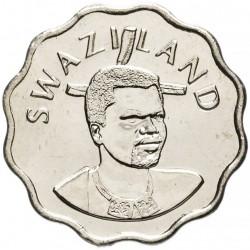 SWAZILAND - PIECE de 5 Cents - Mswati III - Zantedeschia aethiopica - 2010