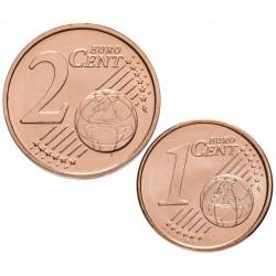 ANDORRE - SET / LOT de PIECES de 1 et 2 Cents d'Euro - Isard - 2018