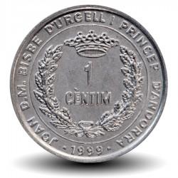 ANDORRE - PIECE de 1 CENTIM - Ange - 1999