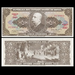 BRESIL - Billet de 5 Cruzeiros - 1962
