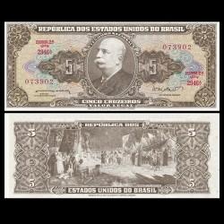 BRESIL - Billet de 5 Cruzeiros - Conquête de l'Amazonie - 1962