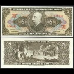 BRESIL - Billet de 5 Cruzeiros - 1964