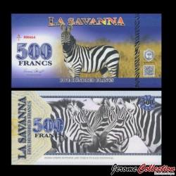 LA SAVANNA - Billet de 500 Francs - 2015