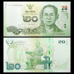THAILANDE - Billet de 20 Baht - 2016