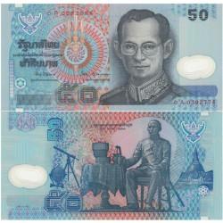 THAILANDE - Billet de 50 Baht - Polymer - Roi Rama IX / Roi Rama IV - 1997