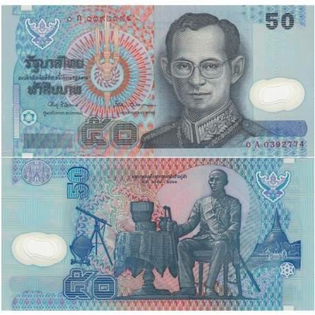 THAILANDE - Billet de 50 Baht - Polymer - Roi Rama IX/ Roi Rama IV - 1997 P102a4
