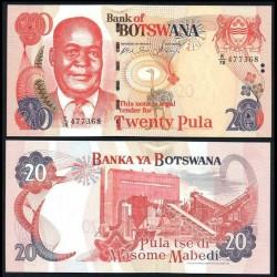 BOTSWANA - Billet de 20 Pula - Kgalemang Tumedisco Motsete - 2006 P27b