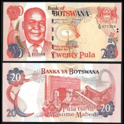 BOTSWANA - Billet de 20 Pula - Kgalemang Tumedisco Motsete - 2006