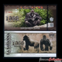 LA SAVANNA - Billet de 1000 Francs - 2015