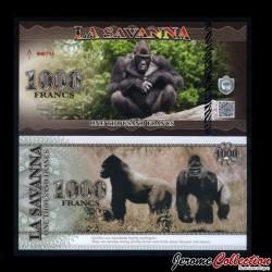LA SAVANNA - Billet de 1000 Francs - 2015