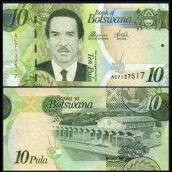 BOTSWANA - Billet de 10 Pula - 2012