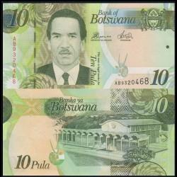 BOTSWANA - Billet de 10 Pula - 2010