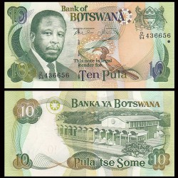 BOTSWANA - Billet de 10 Pula - President Festus Mogae - 2007 P24b