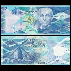 BARBADE - Billet de 2 Dollars - Moulin de Morgan Lewis - 2013 P73a