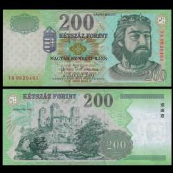 HONGRIE - Billet de 200 Forint - Charles Robert de Hongrie - 2004 P187d