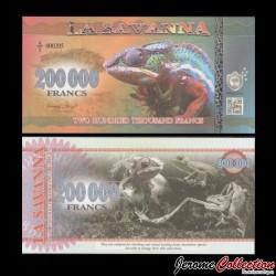 LA SAVANNA - Billet de 200000 Francs - 2016