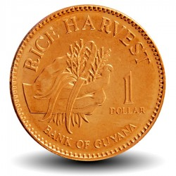 GUYANA - PIECE de 1 Dollar - Plants de riz - 2015 Km#50