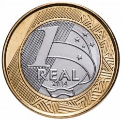 BRESIL - PIECE de 1 Real - Jeux olympiques de Rio 2016 - Natation - 2014