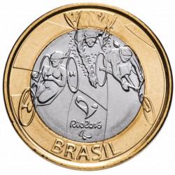 BRESIL - PIECE de 1 Real - Jeux olympiques de Rio 2016 - Paratriathlon - 2014