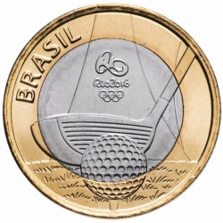 BRESIL - PIECE de 1 Real - Jeux olympiques de Rio 2016 - Golf - 2014