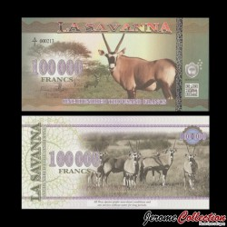 LA SAVANNA - Billet de 100000 Francs - 2016