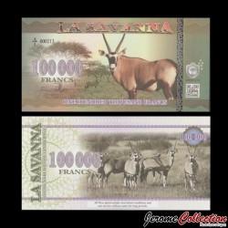 LA SAVANNA - Billet de 100000 Francs - 2016