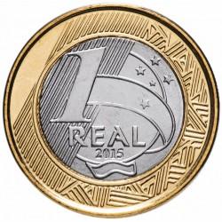 BRESIL - PIECE de 1 Real - Jeux olympiques de Rio 2016 - Basketball - 2015