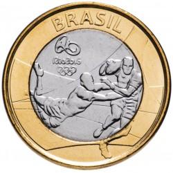 BRESIL - PIECE de 1 Real - Jeux olympiques de Rio 2016 - Rugby - 2015