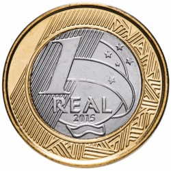 BRESIL - PIECE de 1 Real - Jeux olympiques de Rio 2016 - Football - 2015