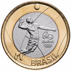 BRESIL - PIECE de 1 Real - Jeux olympiques de Rio 2016 - Volleyball - 2015