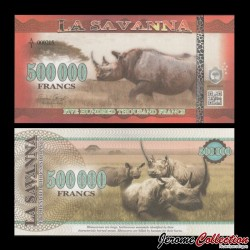 LA SAVANNA - Billet de 500000 Francs - 2016