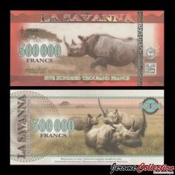 LA SAVANNA - Billet de 500000 Francs - 2016