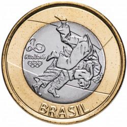 BRESIL - PIECE de 1 Real - Jeux olympiques de Rio 2016 - Judo - 2015
