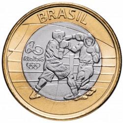 BRESIL - PIECE de 1 Real - Jeux olympiques de Rio 2016 -Boxe - 2016