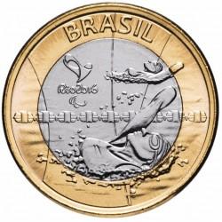 BRESIL - PIECE de 1 Real - Jeux olympiques de Rio 2016 - Natation paralympique - 2016