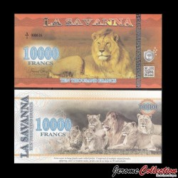 LA SAVANNA - Billet de 10000 Francs - 2016