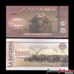 LA SAVANNA - Billet de 20000 Francs - 2016