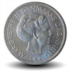 DANEMARK - PIECE de 1 Couronne Danoise - Margrethe II - 1976