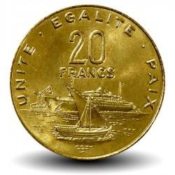 DJIBOUTI - PIECE de 20 FRANCS - Vue du port de Djibouti - 2007
