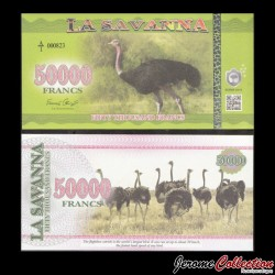 LA SAVANNA - Billet de 50000 Francs - 2016