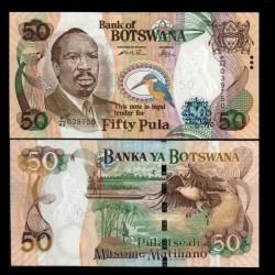 BOTSWANA - Billet de 50 Pula - Sir Seretse Khama - 2005 P28a