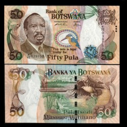 BOTSWANA - Billet de 50 Pula - Sir Seretse Khama - 2005
