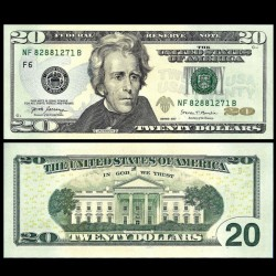 ETATS UNIS - Billet de 20 DOLLARS - F(6) Atlanta - Président Andrew Jackson - 2017