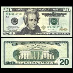 ETATS UNIS / USA - Billet de 20 DOLLARS - F(6) Atlanta - Président Andrew Jackson - 2017 P546aF